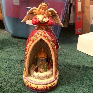 Jim Shore Silent Night Musical Angel Figurine